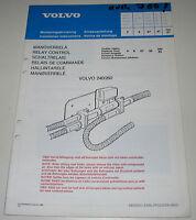 Einbauanleitung Volvo 240 / 260 / 740 / 760  Schaltrelais Schalt Relais 1987!