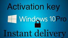 Microsoft Windows 10 Pro Professional 32 64 bit LICENSE KEY Instant Delivery !!!