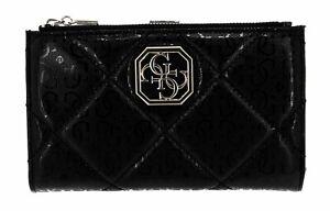 GUESS SG797157 Dilla Portefeuille Porte-Monnaie Noir Femme Sac à Main Poli