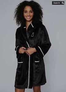 Ann Summers Bunny Robe / Dressing Gown - XL(20-22) Black BNWT