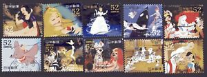 Japan 2014 ¥52 Disney Characters, (Sc# 3684a-j), Used