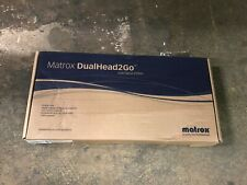 NEW MATROX DUALHEAD2GO D2G-A2D-IF DIGITAL EDITION DUAL DISPLAY VGA DVI-I
