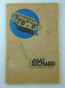 Katalog catalogue VERASCOPE TAXIPHOTE GLYPHOSCOPE HOMEOS Jules Richard 1930