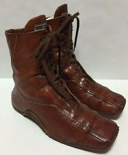 Airstep Rare Ankle Boots Women's 7-8 Cognac Brown Combat Military Comfort Shoes