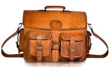 New Leather Distressed Vintage messenger laptop computer shoulder bag Briefcase