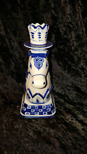 VINTAGE RUSSIAN GZHEL PORCELAIN HORSE HEAD CANDLE HOLDER HAND MADE