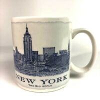 Starbucks Architecture City Skyline Mug New York 2006 blue print 18 oz