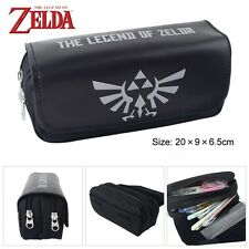 The Legend of Zelda Shield Black Student Pencil Case Zipper Stationery Bag
