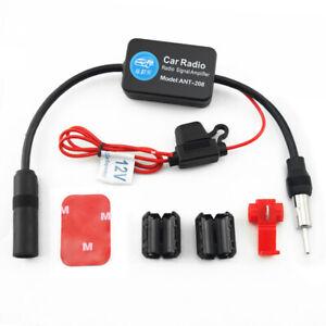 Car FM Radio Aerial Antenna Signal Reception Amp Amplifier Booster Universal