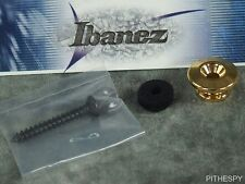 NEW IBANEZ GOLD STRAP BUTTON AR EGEN PM JEM SR LGB JSM100 DWB2 GUITAR BASS PART