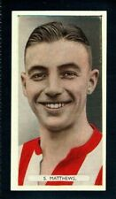 More details for superb ardath famous footballers 1934 stanley matthews - stoke city rookie card