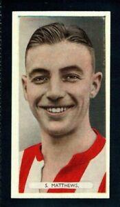 SUPERB ARDATH FAMOUS FOOTBALLERS 1934 STANLEY MATTHEWS - STOKE CITY ROOKIE CARD