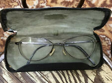 Vtg Oliver Peoples England Eyeglasses Aero 54 17 140 Black + Case Glasses