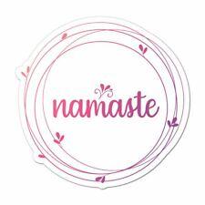 Namaste Laptop Car Sticker Decal Flower Lotus Hippie Yoga Buddha Om