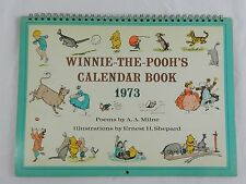 Vintage 1973 Winnie The Pooh Calendar Book Poems by A.A. Milne Artwork Disney