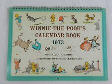 Vintage 1973 Winnie The Pooh Calendar Book Poems by Aa Milne Artwork Disney Unus