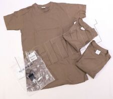 NEW US Military USGI Issue 3-Pack Crew Neck T-Shirts Brown 100% Cotton Navy NWU