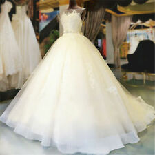 Crystal/Diamante Lace A-line Unbranded Wedding Dresses