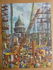 REBUILDING NEAR ST PAUL'S 550 pieces vintage jigsaw puzzle EMBASSY TOWER PRESS