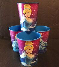 Disney Princess Cinderella Plastic Cup 16 Oz Party Favor Keepsake Lot Set Of 4