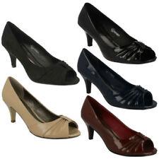 Zapatos de tacón de mujer Peep Toes Spot On