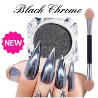 BLACK Nail Mirror Powder NEW ARRIVAL Real A+ Grade Chrome Effect Pigment (y10)
