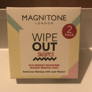 Magnitone WipeOut Reusable MicroFibre Makeup Removal Facial Cleansing Cloths x 2