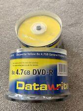 Datawrite Yellow DVD-R DISCS x 100, brand new. 8 x 4.7 GB. Bargain lot.
