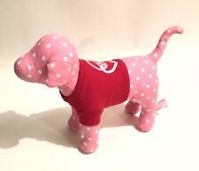 Rare Victoria's Secret PINK Mini Dog Pink White Dots Red Peace Tee 07/2009