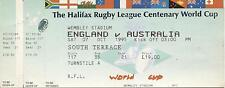 More details for a ticket for the england v australia match at wembley on 07.10.1995