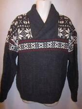 Aran Crafts 100% Merino Wool Made in Ireland Gray Warm Sweater Men's L New