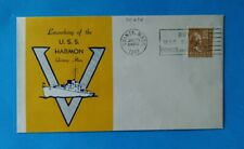 WWII USS HARMON Quincy Mass. Ship Launching Cover Envelope