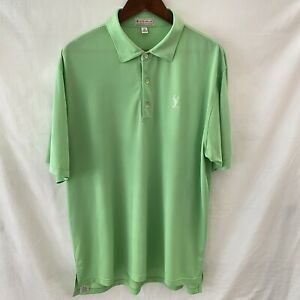 Peter Millar Crown Lime Green Pro's Cup 2012 Embroidered Golf Polo Mens Size XL