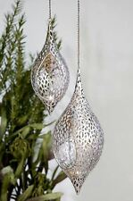 74128 Hanging Light Purley From Metal · Antique Silver to Hang Height 99cm