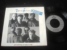 "TIN MACHINE/DAVID BOWIE/YOU BELONG IN ROCK N ROLL/STEMRA  PRESS 7"" SP"
