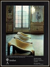 1969 AD   ARTIFORT FURNITURE MODERNISTIC DESIGN  HOTEL ROHAN EXPOSITION