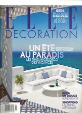 Elle Decoration Magazine #255 july / auguast 2017 , UN ETE AU PARADIS