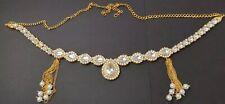 GOLD Plated Indian/Pakistani Saree Hip Waist Belly Kamarband Chain UK SELLER