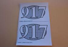 QP 2 Certificat autocollant PORSCHE 917 LH Le Mans 70 N°3 pour socle Heco 1/43