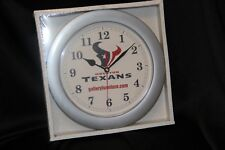 Houston Texans & Gallery Furniture  NFL Round Chrome Wall Clock ~2004~~