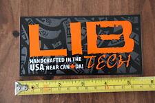 LIB TECH Snowboard STICKER Decal NEW USA Orange