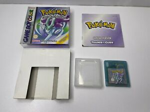 Boxed Pokemon Crystal Nintendo Gameboy Game! GB Includes Manual & Insert.  L@@K
