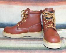 Mens Vintage Western Chief Brown Leather Lace Up Crepe Sole Work Boot 8.5 D NEW