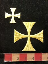Patch Lot Of 2 Different Size IRON CROSS Patches 83WM