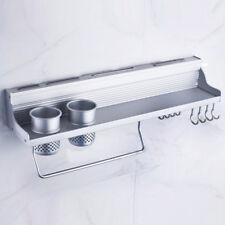 Alu Wandregal Küchenregal Gewürzregal Messerhalter Löffel Organizer +Haken 50CM