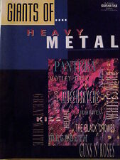 Giants Of... Heavy Metal (Guitar Tablature/Vocal Songbook) - OUT OF PRINT, MINT!