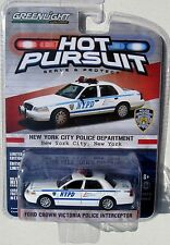 GL HOT PURSUIT SERIES 12 FORD CROWN VICTORIA INTERCEPTOR NYPD POLICE DEPT 1:64