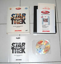 Gioco Pc Cd STAR TREK THE NEXT GENERATION A final unity in BOX Micro Prose