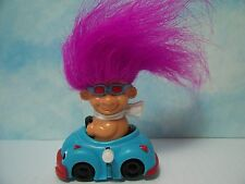 "BOY IN HIS WIND UP CAR - 3"" Russ Troll Doll Toy - NEW IN ORIGINAL WRAPPER"