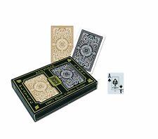 NEW KEM Arrow Black and Gold Bridge Size Jumbo Index Playing Cards